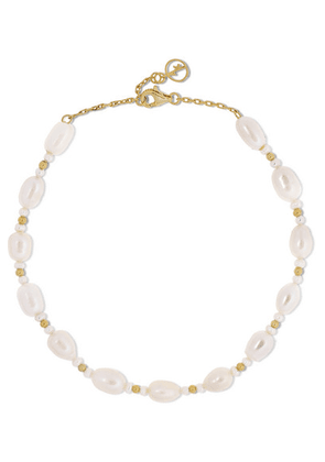 Anissa Kermiche - Gold-plated Pearl Anklet - one size
