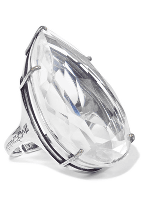 Alexander McQueen - Silver-tone Crystal Ring - White