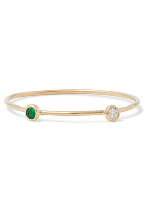 Grace Lee - Gold Diamond And Emerald Ring - 6