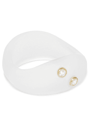 Grace Lee - Resin And Diamond Ring - Neutral