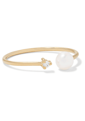 Mizuki - 14-karat Gold, Pearl And Diamond Ring - 5