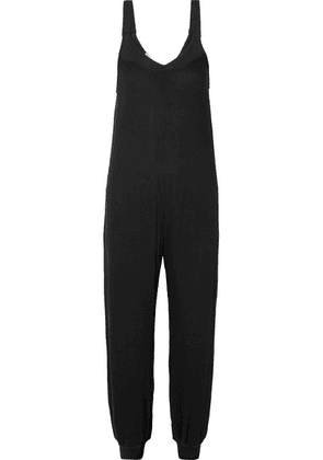 Eberjey - Elon Ribbed Stretch-jersey Jumpsuit - Black