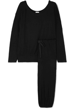 Eberjey - Elon Ribbed Stretch-jersey Pajama Set - Black