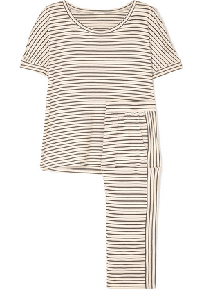 Eberjey - Vega Striped Stretch-jersey Pajama Set - Neutral