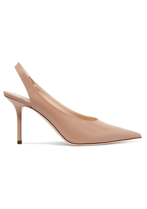 Jimmy Choo - Ivy 85 Leather Slingback Pumps - Neutral