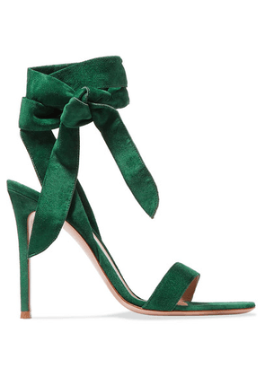 Gianvito Rossi - 105 Suede Sandals - Forest green