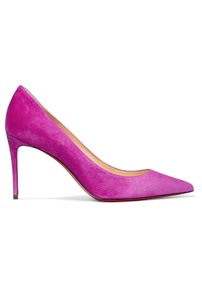 Christian Louboutin - Kate 85 Suede Pumps - Violet