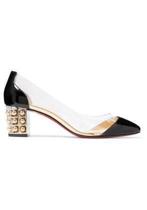 Christian Louboutin - Gallica 55 Pvc And Patent-leather Pumps - Black