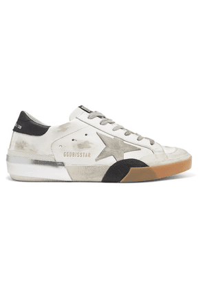 Golden Goose - Superstar Distressed Leather Sneakers - White