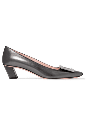 Roger Vivier - Belle Viver Decollete Metallic Leather Pumps - Bronze