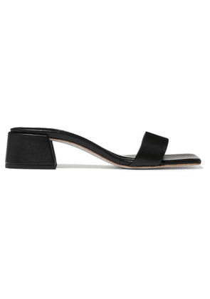 BY FAR - Courtney Leather Mules - Black