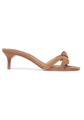 Alexandre Birman - Clarita Bow-embellished Suede Mules - Neutral