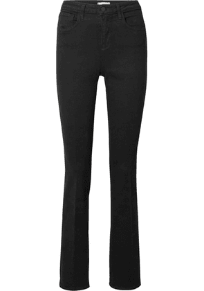 L'Agence - Oriana High-rise Straight-leg Jeans - Black