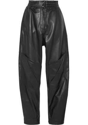 Acne Studios - Louiza Leather Tapered Pants - Black