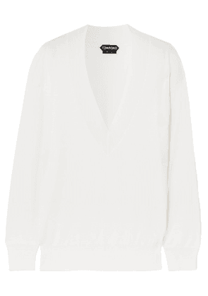 TOM FORD - Cashmere And Silk-blend Sweater - White