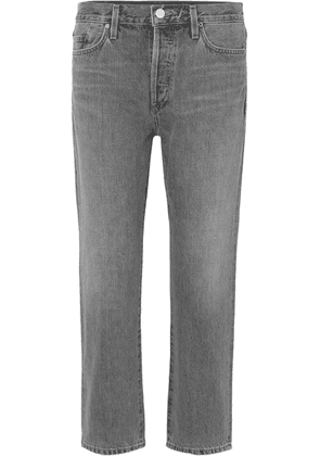 Goldsign - The Low Slung Cropped Mid-rise Straight-leg Jeans - Gray