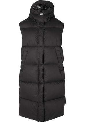 Moncler - Hooded Quilted Cotton Down Vest - Black