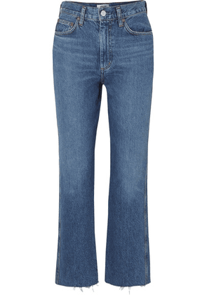 AGOLDE - Pinch Waist Cropped Organic High-rise Flared Jeans - Mid denim