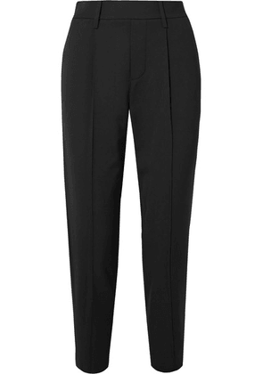 Vince - Cropped Crepe Straight-leg Pants - Black