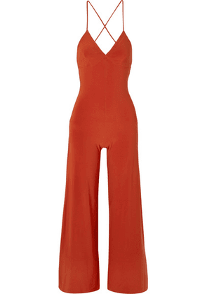 Norma Kamali - Stretch-jersey Jumpsuit - Red