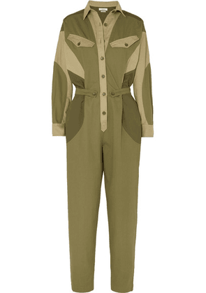 Isabel Marant Étoile - Guan Cotton-twill Jumpsuit - Army green