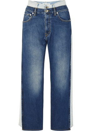 Maison Margiela - Layered Low-rise Boyfriend Jeans - Blue