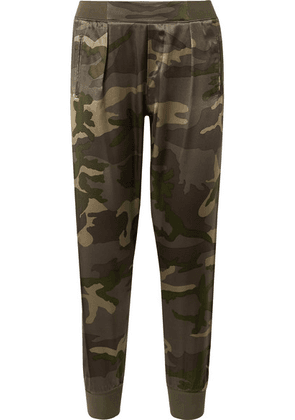 ATM Anthony Thomas Melillo - Camouflage-print Silk-satin Track Pants - Army green