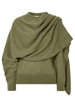 REJINA PYO - Colette Draped Mohair-blend Sweater - Green