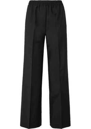 Acne Studios - Pammy Wool And Mohair-blend Wide-leg Pants - Black
