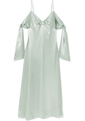 MM6 Maison Margiela - Draped Satin Maxi Dress - Mint
