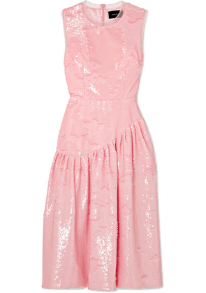 Simone Rocha - Frame Sequined Tulle Midi Dress - Pink