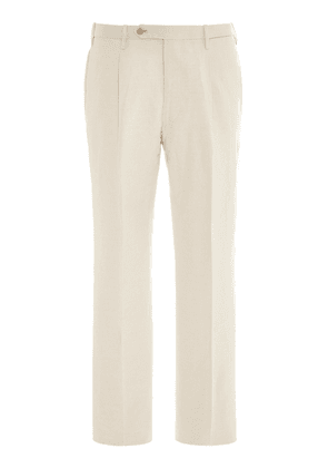 Camoshita Pleated Silk And Linen-Blend Trousers