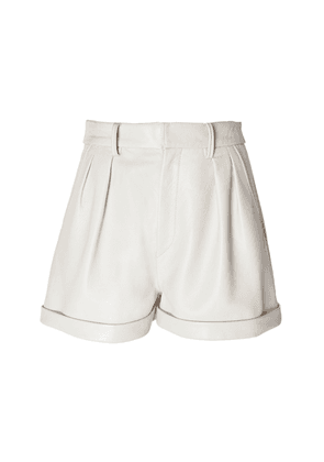Isabel Marant Fabot High-Waisted Leather Shorts