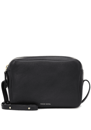 Double Zip leather crossbody bag