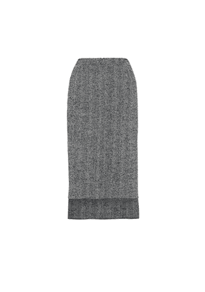 Tweed wool-blend pencil skirt