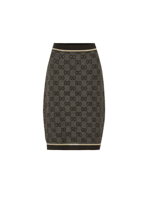 GG-jacquard wool skirt