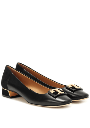 Gigi leather and suede pumps