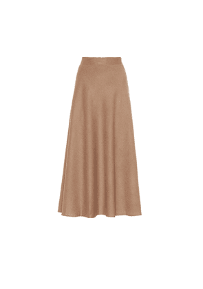 The Ada camel-hair midi skirt