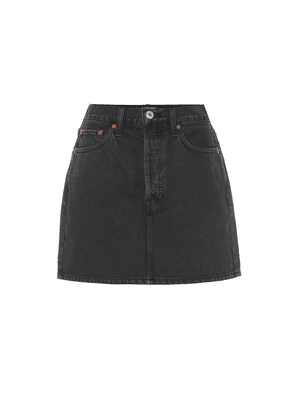 60s high-rise denim miniskirt