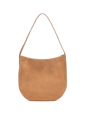 Folded Hobo suede shoulder bag