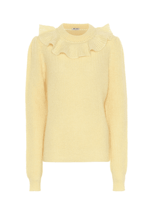Ruffled mohair-blend sweater