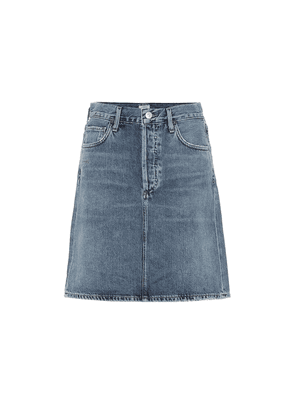 Lorelle high-rise denim miniskirt