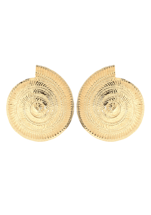 Archi 24kt gold-plated shell earrings