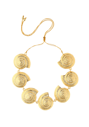 Archi 24kt gold-plated shell necklace