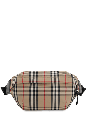 Check Cotton Blend Sonny Belt Bag
