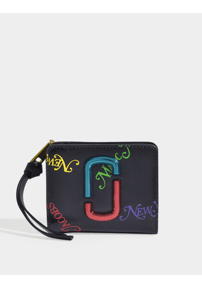 Snapshot New York Mag Mini Compact Wallet in Black Leather
