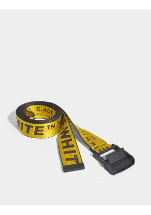 Classic Industrial Belt in Yellow Polyamide
