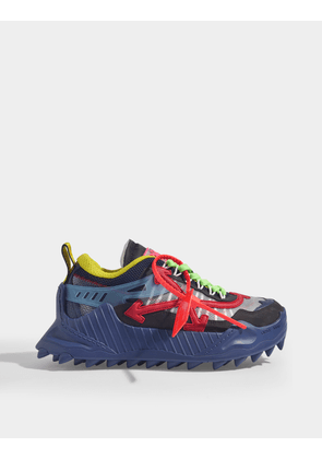 ODSY-1000 Sneakers in Blue and Red Calf Leather
