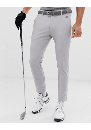 Adidas Golf Ultimate 365 3-stripe tapered trousers in grey