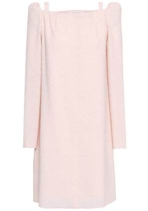 See By Chloé Cutout Crinkled Woven Mini Dress Woman Pastel pink Size 40